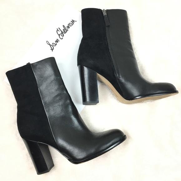 017c0994f14b Sam Edelman Shoes - Sam Edelman Black Leather Reyes Booties