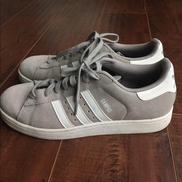 le adidas campus grey scarpe poshmark camoscio