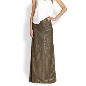 Rachel Zoe Pearl Sequin Maxi Skirt