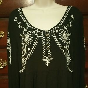 Black and white blouse by Maurices