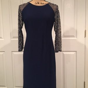 Navy blue Leslie Fay dress