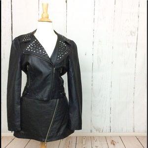 Buffalo David Bitton Studded Faux Leather Jacket