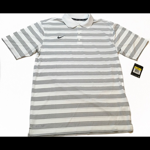 huge selection of 8d1c0 f7b1c New mens Nike Golf Dri-Fit Victory Stripe Polo