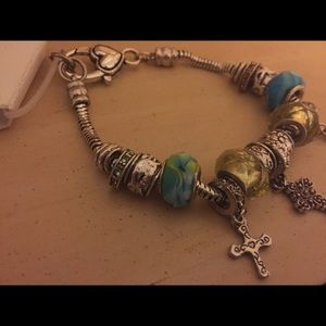 Jewelry - NWT Charm bracelet similar to Pandora