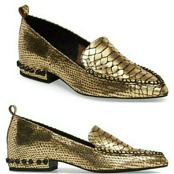 6395c36e4fb Jeffrey Campbell Shoes - JEFFREY CAMPBELL Barnett Gold Loafer