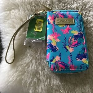 Lilly Pulitzer Phone Case/Wallet Wristlet