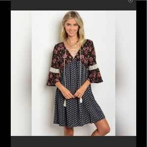Lace-up Dress or Long Tunic