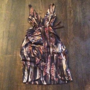 H&M print tulip cut dress