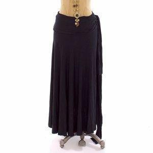 ELAN NORDSTROM BLACK SWIM COVER UP SKIRT DRESS