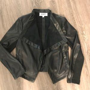 B.B. Dakota draped faux leather jacket