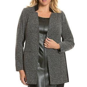 Lane Bryant Tweed Ponte Long Jacket Size 28