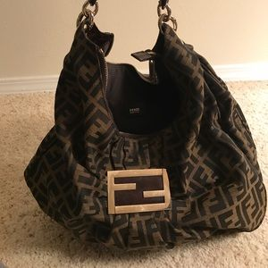 Authentic Fendi Purse with Gold detail