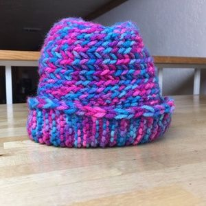 Other - Handmade cotton candy knit beanie hat