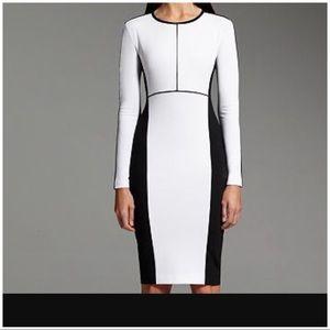 Long Sleeve Colorblock Dress