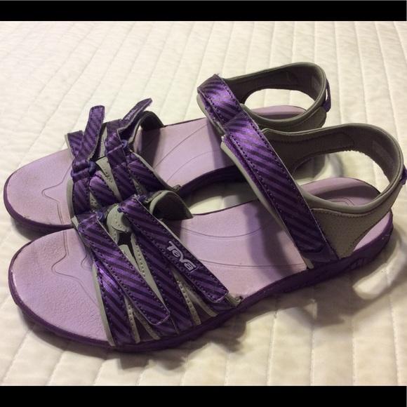 e604f6b4562747 Teva tirra shoes sandals 7 kids girls purple sport.  M 59f7d4a0eaf030e53f0d2a9e