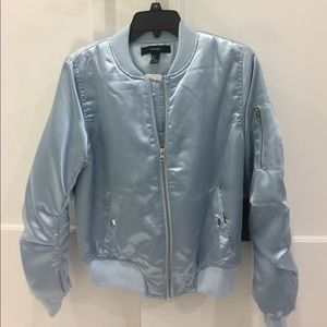 Forever 21 ice blue satin jacket. NWT
