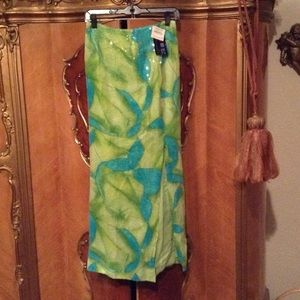 NWT Stunning Turquoise & Green Sequin Skirt