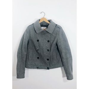 Charcoal Grey Double Breasted Pea Coat