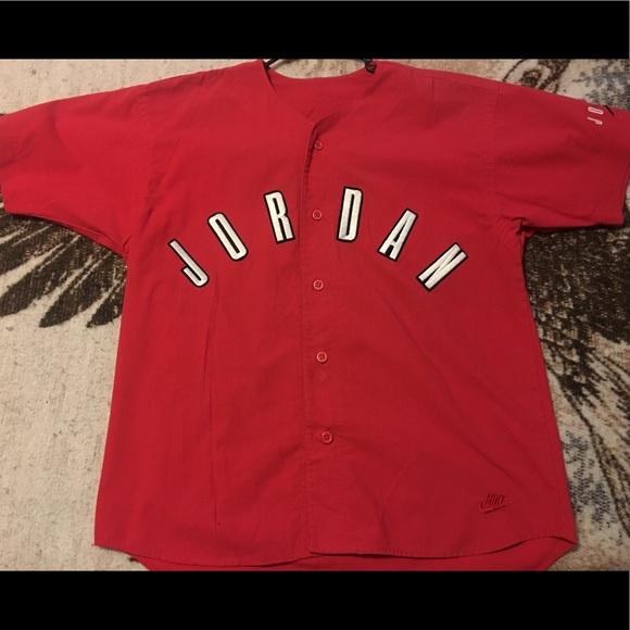 "74a03d736f7c7d Vintage Nike Jordan Baseball Style Jersey ""RARE"""