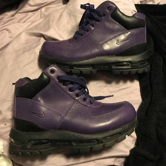 Leather Acg Boot Deep Nike Air Goadome Shoes Purple Max 8nqqYOd