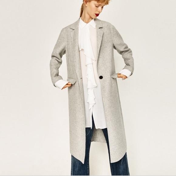 b86ba502 Zara Jackets & Coats | Last Price Handmade Wool Coat | Poshmark