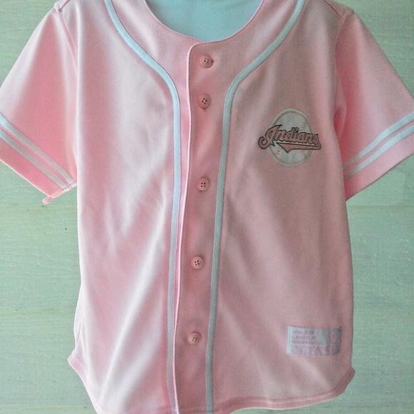 bbd051672 Major League Baseball Other - Cleveland Indians Button Down Baseball Jersey  Girl