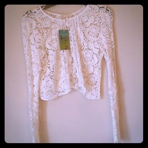 Aquamar Lace Cardigan NWT