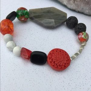 Red holiday aromatherapy diffuser bracelet