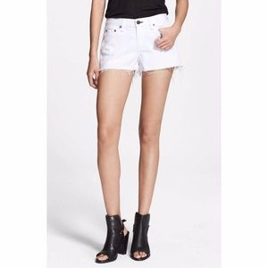 Rag & Bone Bright White Cutoff Short, 25