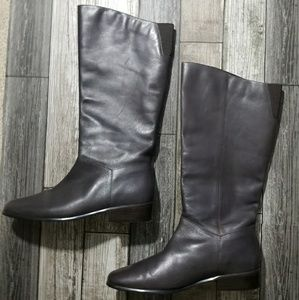 St John's Bay brown leather calf boots