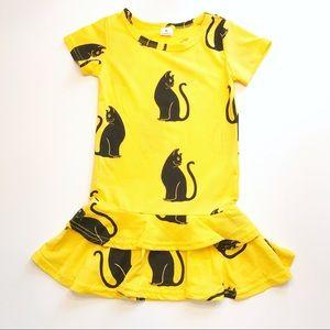 Other - New! Yellow & Black Cat Ruffle Dress