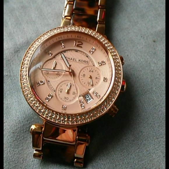 Michael Kors Accessories - Michael kors tortise shell watch