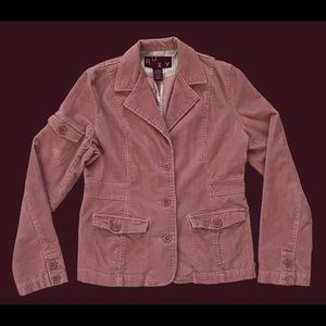 ROXY Corduroy 3 Button Blazer Pink Women's Size XL