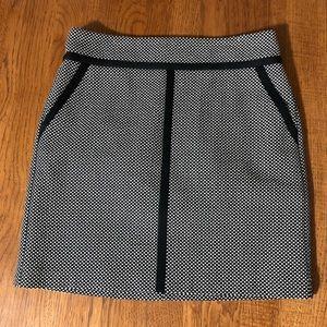 Loft mini checkered straight winter skirt
