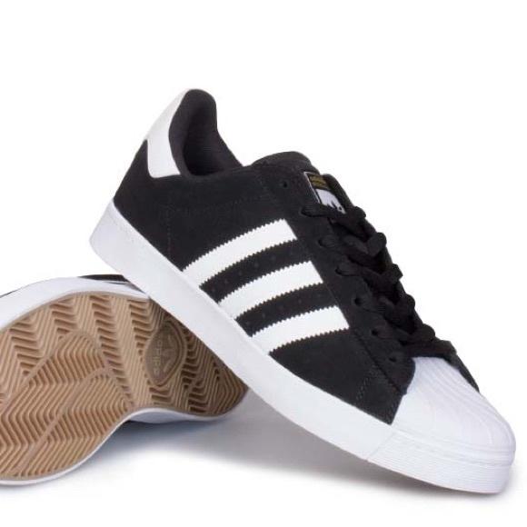 adidas superstar vulc black white