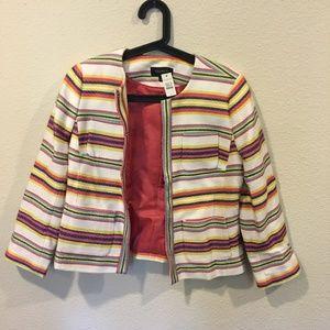 Talbots Jackets & Coats - NWT Talbots 'Calais' stripe jacket