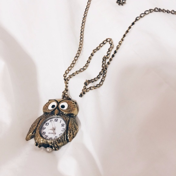Forever 21 forever 21 owl clock pendant necklace from alices forever 21 owl clock pendant necklace mozeypictures Images