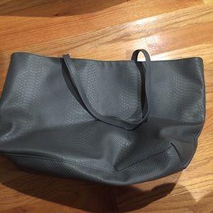 Handbags - Bloomingdales bag Grey Faux leather