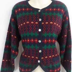 80s Vintage Button Up Cardigan Sweater