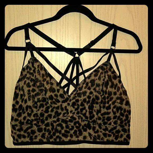 bf37779e18f6c Torrid Leopard Print Strappy Bralette NWT