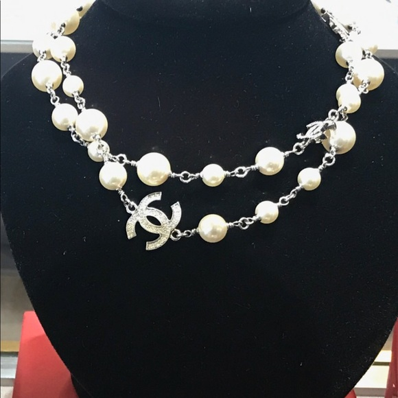 032d244d91 Chanel pearl and cc link necklace price firm.