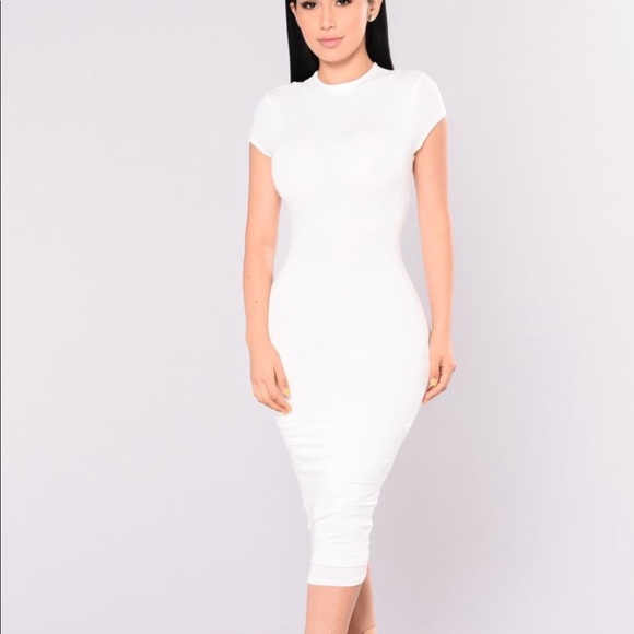 Fashion Nova Dresses & Skirts - FASHION NOVA JOJO DRESS IN WHITE
