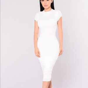 FASHION NOVA JOJO DRESS IN WHITE