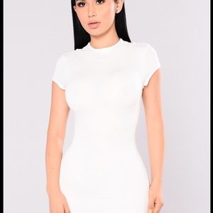 Fashion Nova Dresses - FASHION NOVA JOJO DRESS IN WHITE