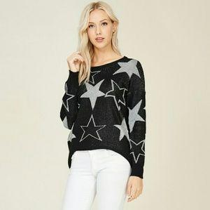 Lurex stars sweater