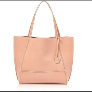 Botkier soho tote bag pink pebbled leather NWT