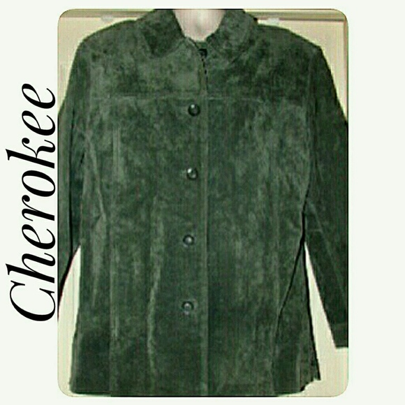 Cherokee Jackets & Blazers - Cherokee Washable Suede Jacket Women's 12