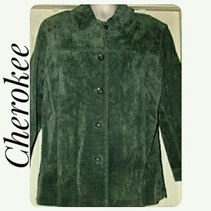 Cherokee Jackets & Coats - Cherokee Washable Suede Jacket Women's 12