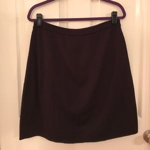 Coldwater Creek Stretchy wool blend skirt Purple