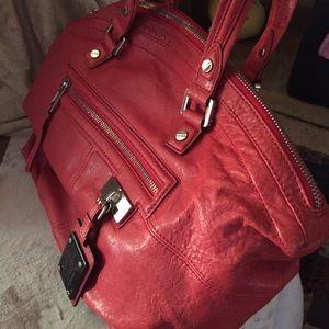 L.A.M.B by Gwen Stefani - red leather bag